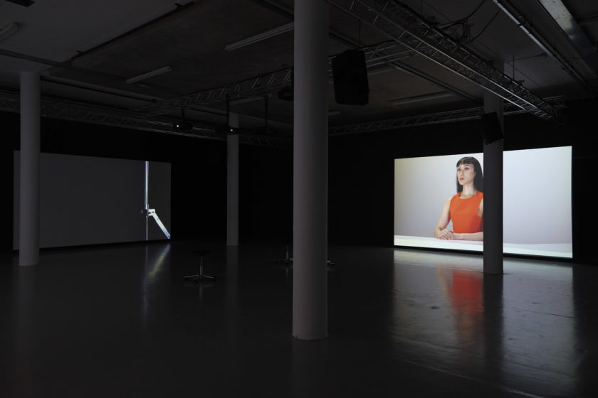 Cally Spooner, Post-production (2015) Installation view, Spike Island. Photograph by Stuart Whipps.