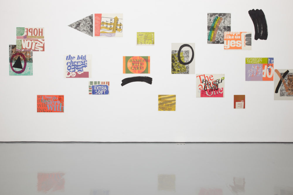 Ciara Phillips and Corita Kent, Pull Everything Out (2012) Installation view, Spike Island, Bristol. Courtesy the artists and Corita Art Centre, Los Angeles. Photograph by Stuart Whipps