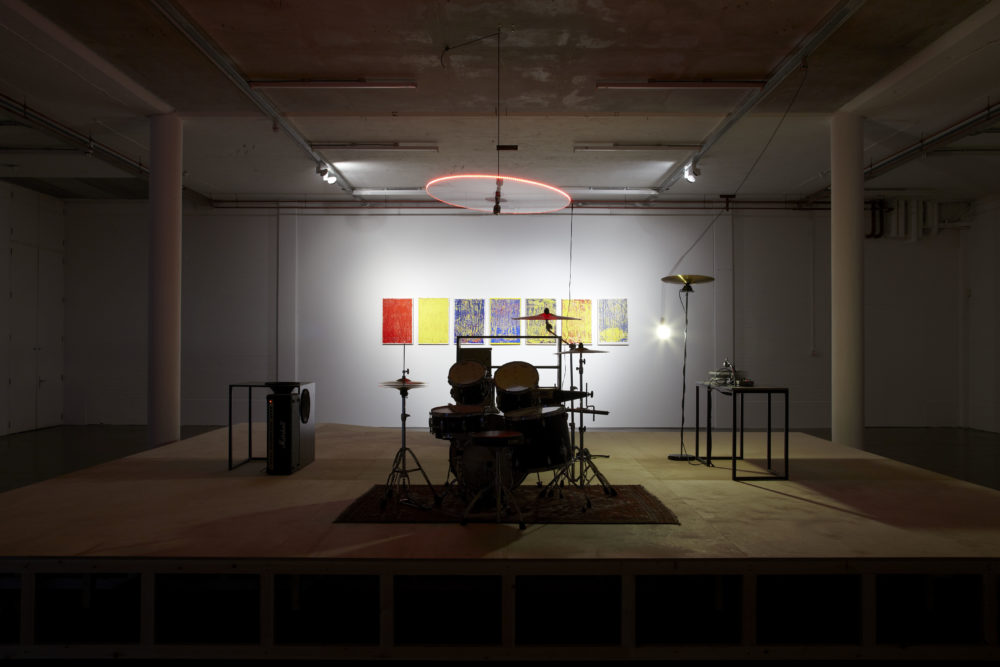 Haroon Mirza I saw square triangle sine (2011) Installation view, Spike Island, Bristol. Photograph by Stuart Whipps