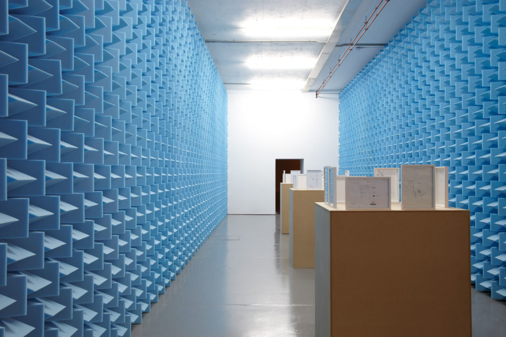 Haroon Mirza installation view. Photograph by Stuart Whipps