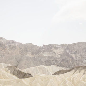 A desert mountain range - no people, animals or plants are visible in the landscape.