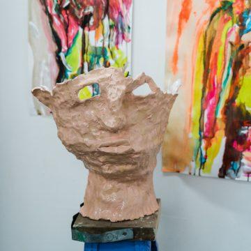 Louise Bradley's studio (2021), photograph by Rebecca Goldman