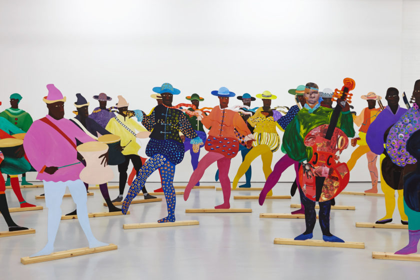 Lubaina Himid, Navigation Charts (2017) Installation view, Spike Island, Bristol. Works courtesy the artist, Hollybush Gardens and National Museums, Liverpool. Photograph by Stuart Whipps