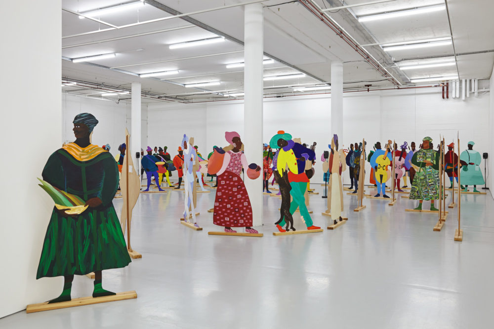 Lubaina Himid Installation view, Navigation Charts Spike Island (2017) Courtesy the artist, Hollybush Gardens. Photograph by Stuart Whipps
