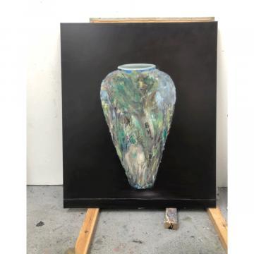 Mahali O'Hare, Shopper (2020) Oil on canvas, 120 x100cm