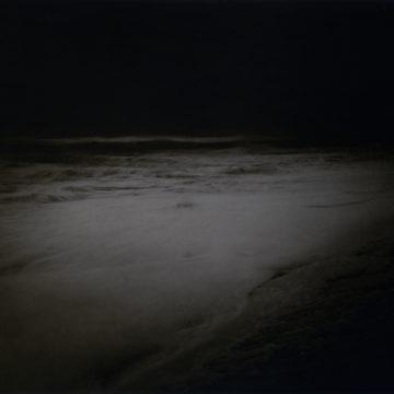 Dunwich beach in the dark.