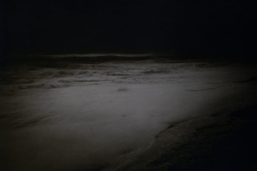 Dunwich beach in the dark.