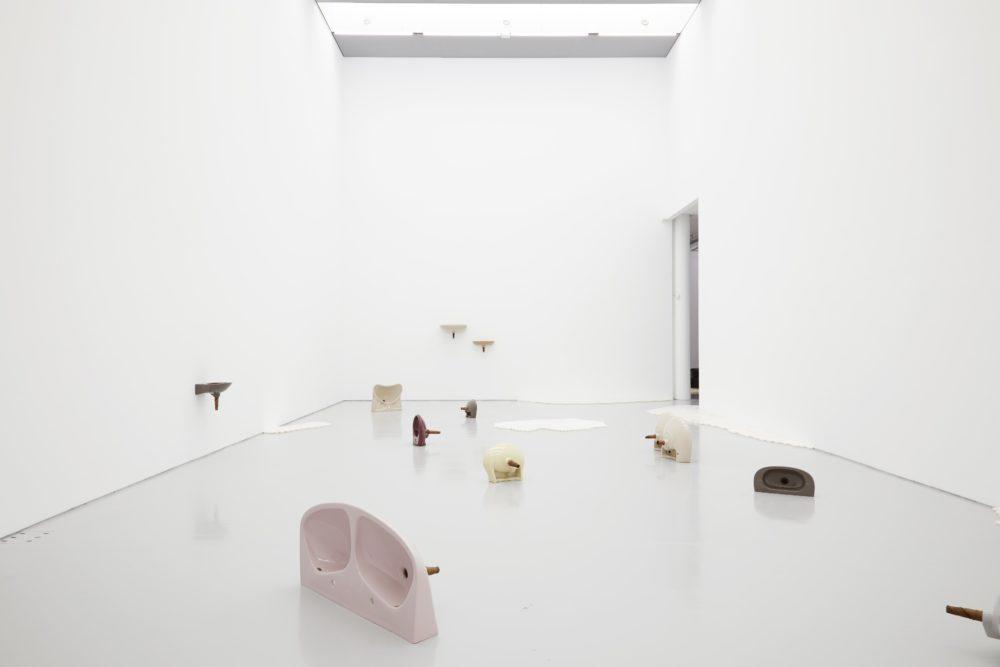 Nina Beier, European Interiors (2018) Installation view, Spike Island, Bristol. Photograph by Stuart Whipps