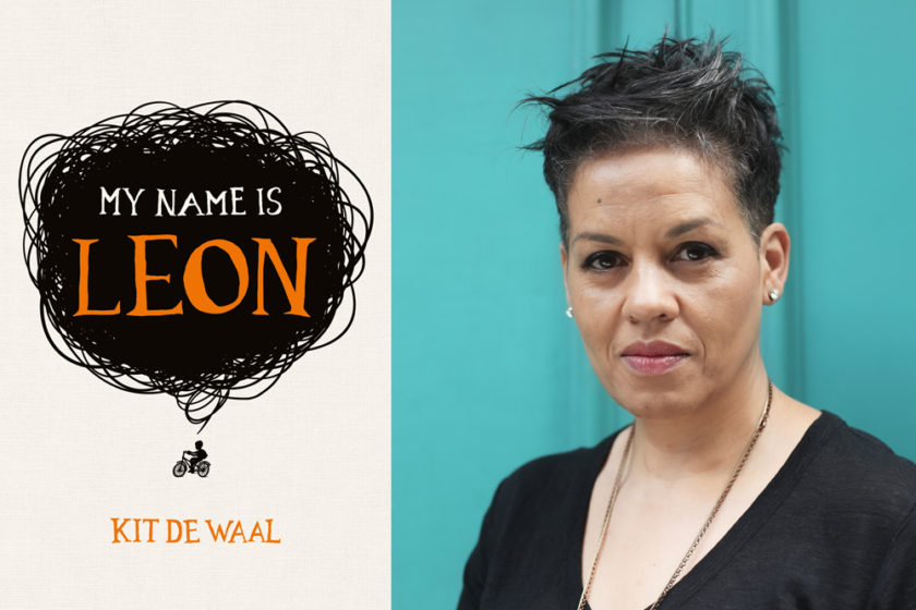 The author Kit De Waal next to their book My Name is Leon.