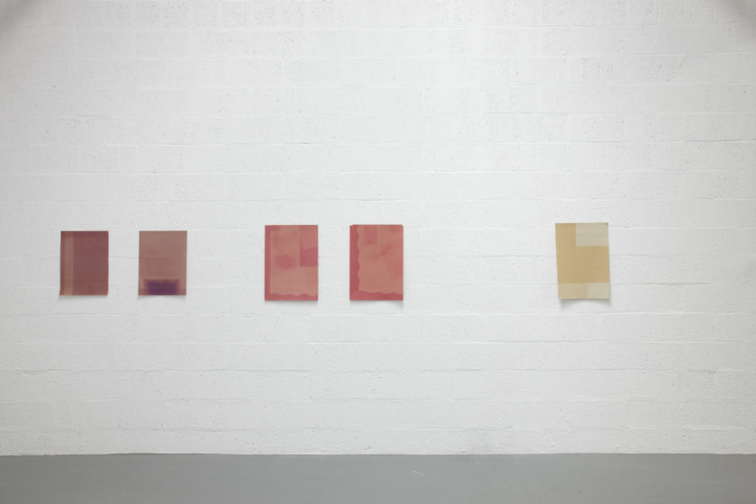 Sara MacKillop, Faded Paper (2011) Installation view, Spike Island, Bristol. Photograph by Stuart Whipps