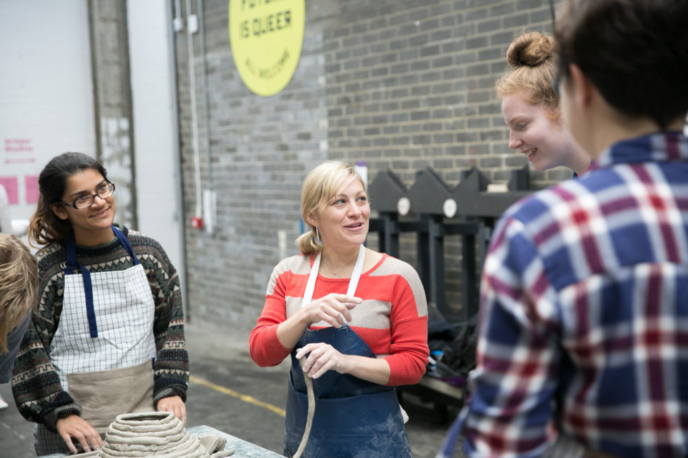 A drop in clay coiling workshop at Open Studios 2017