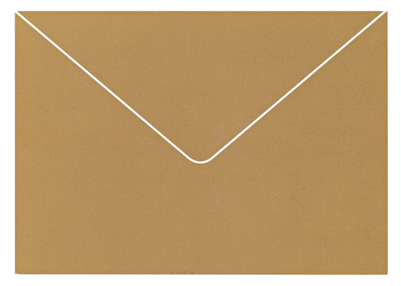 A work from The Artists' Postcard Show (2012). The postcard is made to look like a manilla envelope.