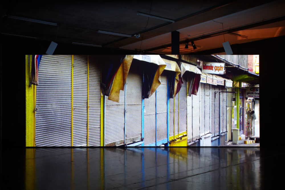 Uriel Orlow, Back to Back (2013) Installation view, Spike Island, Bristol. Photograph by Stuart Whipps