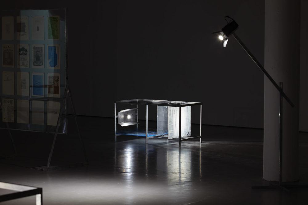 Xavier Antin, The Eternal Network (2016) Installation view, Spike Island, Bristol. Photograph by Stuart Whipps