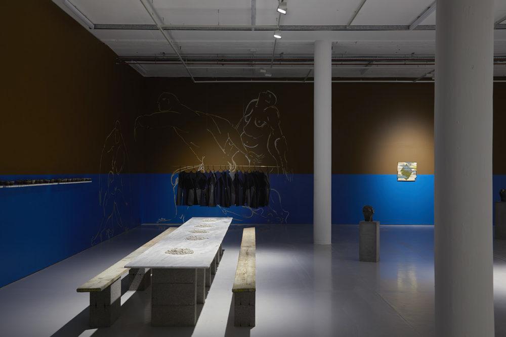 Zoë Paul, La Perma-Perla Kraal Emporium (2018) Installation view, Spike Island. Photograph by Stuart Whipps
