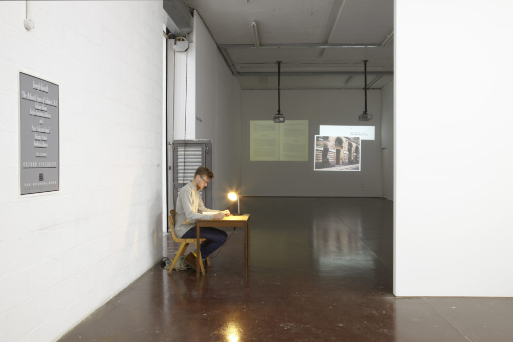 Again, a Time Machine (2011) installation view. Spike Island. Photograph by Stuart Whipps