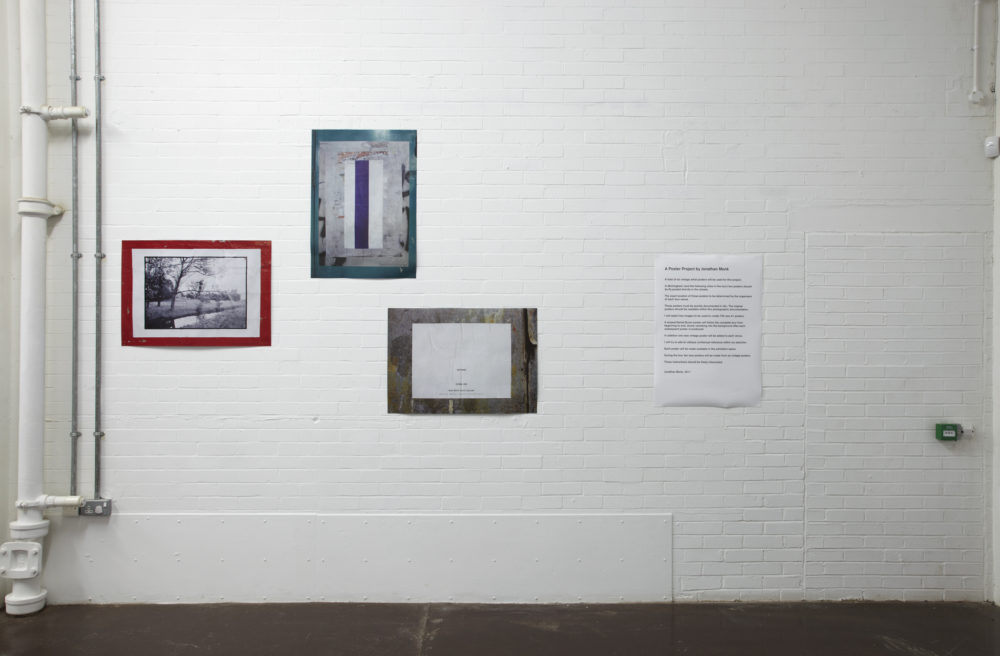 Jonathan Monk A Poster Project (2011) installation view, Spike Island, Bristol. Photograph by Stuart Whipps