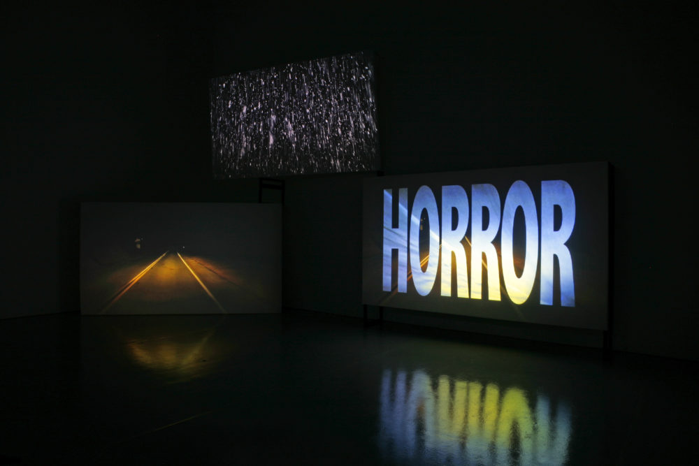 Amanda Beech, Sanity Assassin. Installation view, Spike Island, Bristol (2010) Photograph by Stuart Bunce