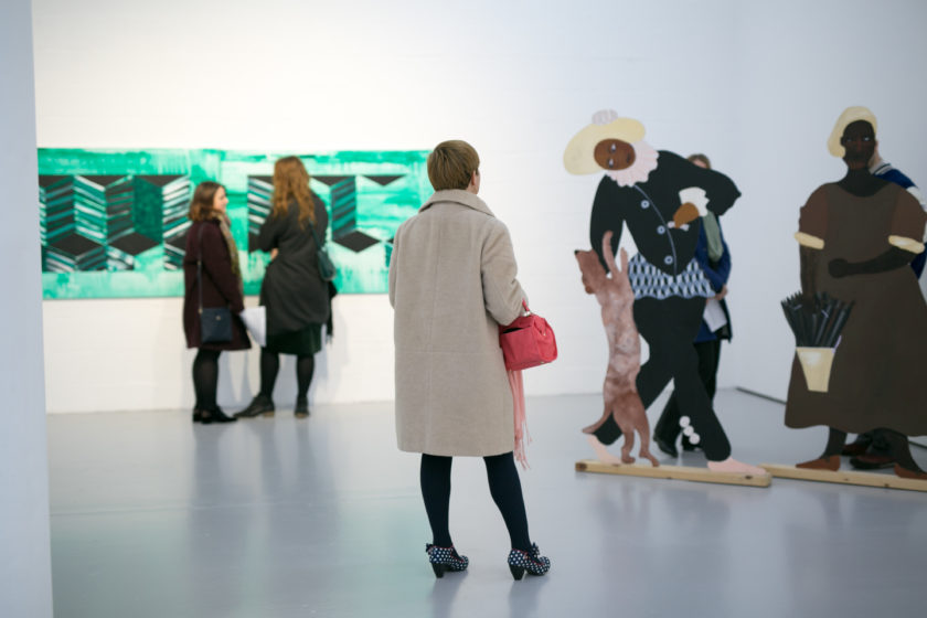 Lubaina Himid Installation view, Navigation Charts Spike Island (2017) Courtesy the artist, Hollybush Gardens. Photograph by Lisa Whiting