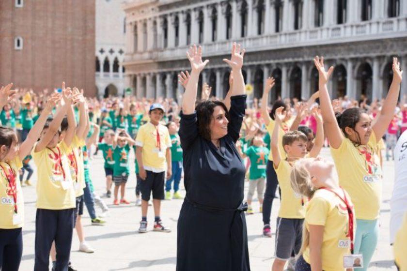 Marinella Senatore (2018) Performance: WE the KIDS, Peggy Guggenheim Venice Piazza San Marco Venice Photograph by Francesca Bottazzin