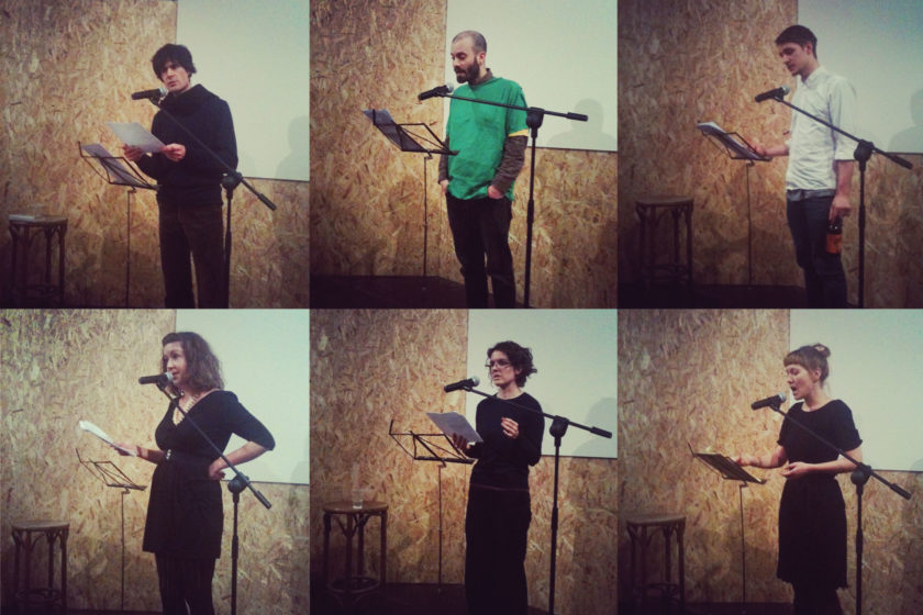 One Night Stand readings at Spike Island, Bristol (2012)