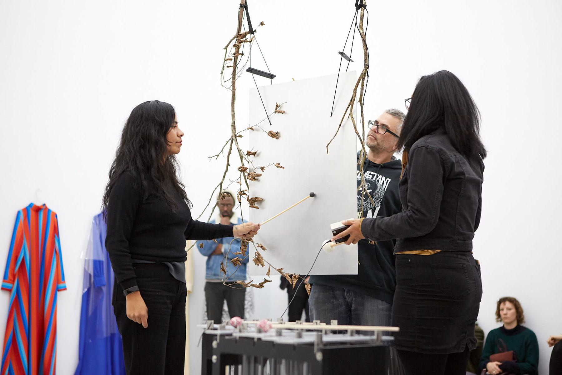 Sriwhana Spong Ida-Ida (2019) Performance still, Uniform art collective, Spike Island, Bristol. Photograph by Max McClure