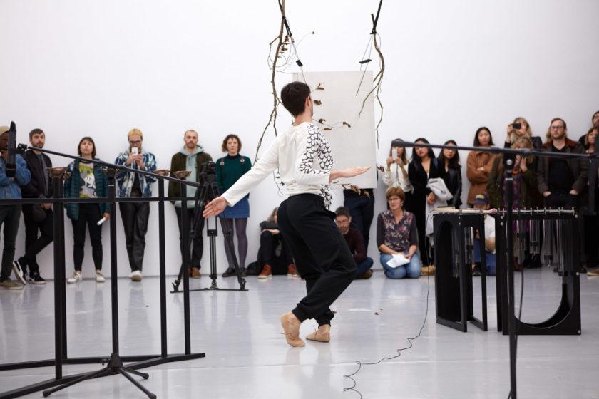 Sriwhana Spong Ida-Ida (2019) Performance still, dancer Benjamin Ord, Spike Island, Bristol. Photograph by Max McClure