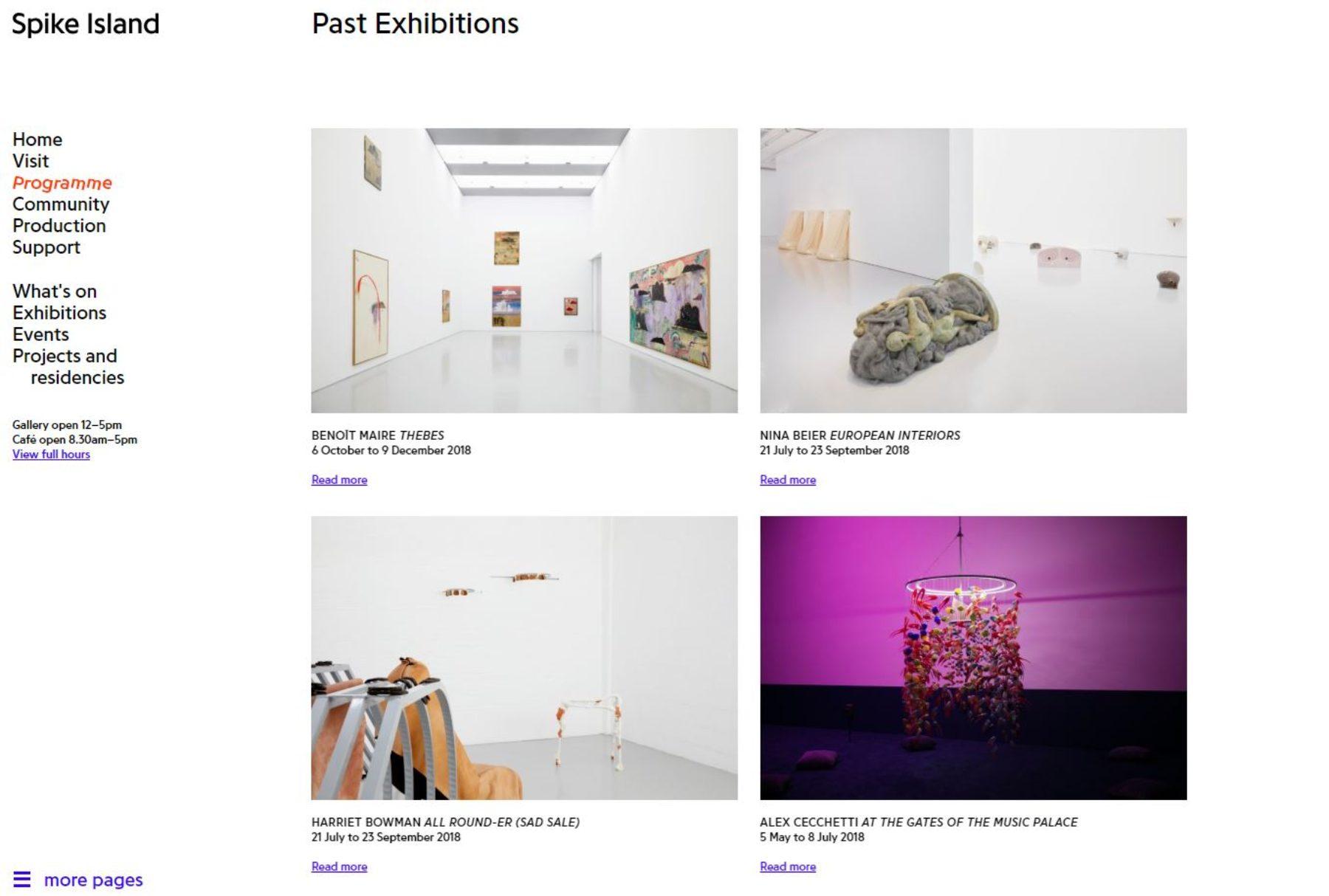 Website development_past exhibitions