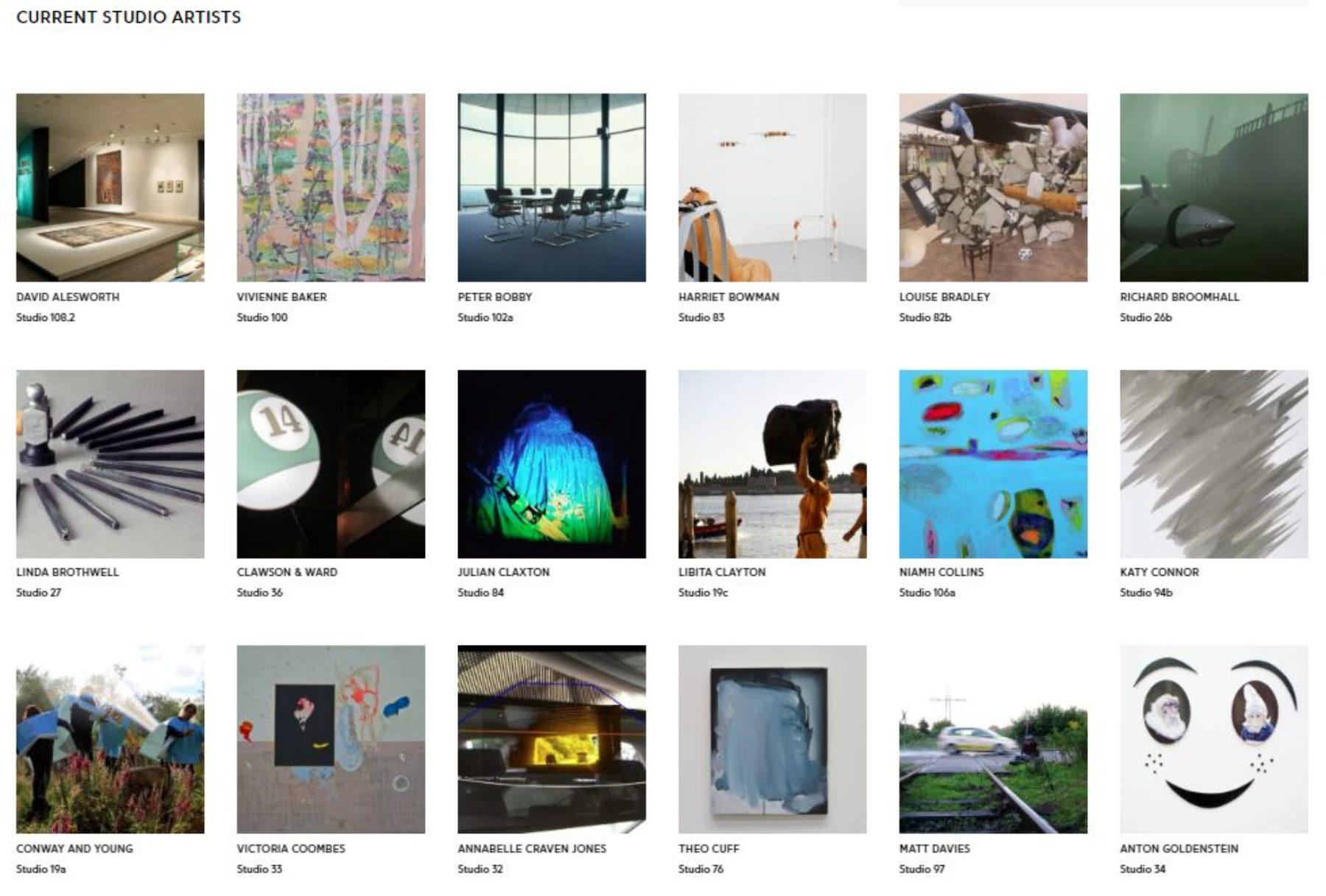 Website development_studio artists