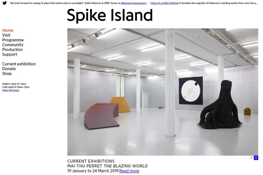 spike island new website
