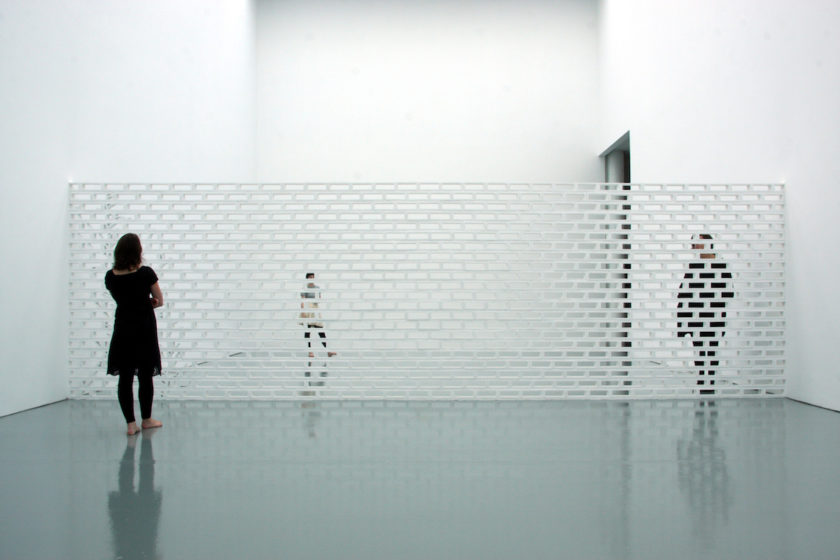 Jorge Santos, Blind Wall (2010) mixed-media, installation view. Courtesy Spike Island. Photo Stuart Bunce