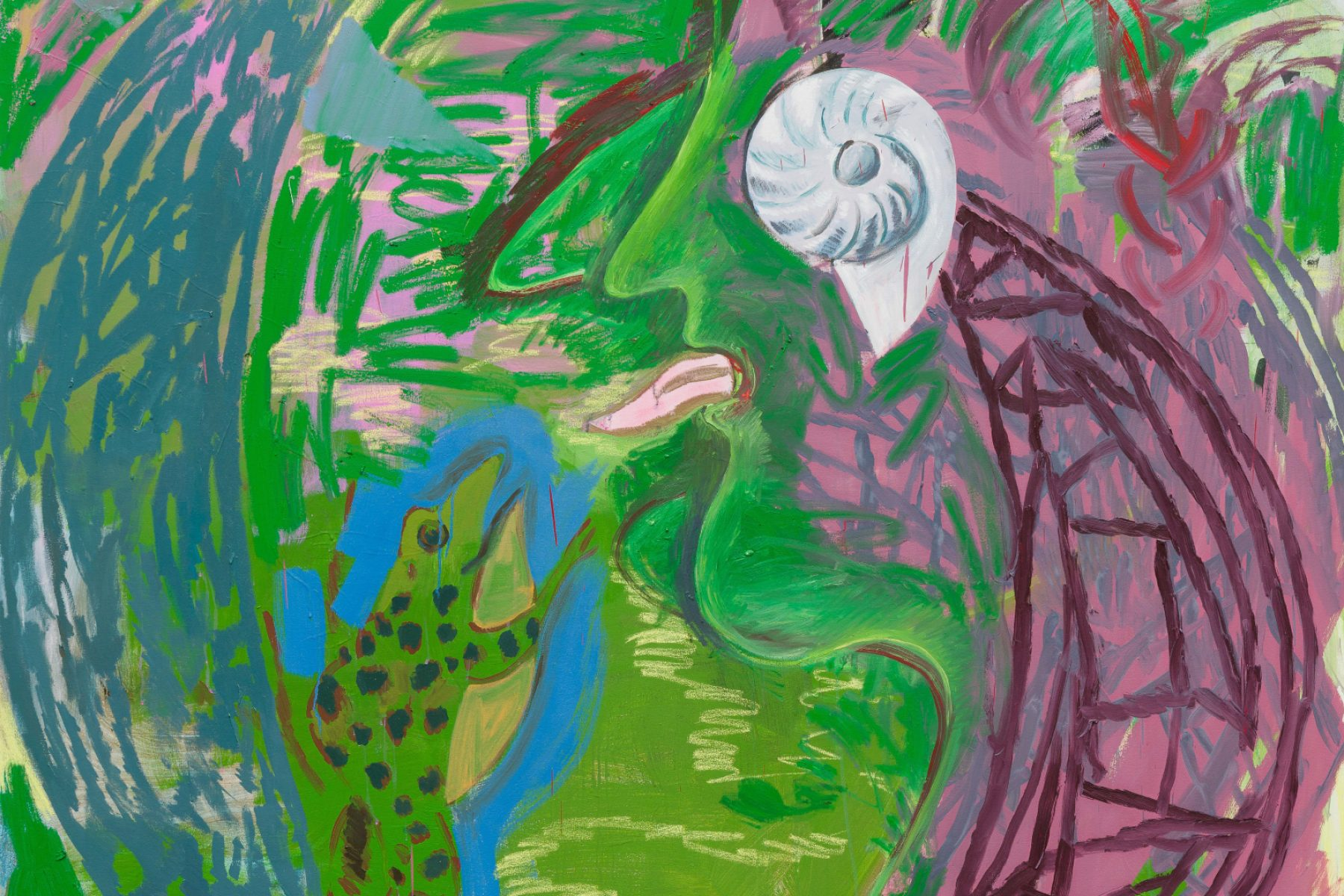 A painting by Lucy Stein: Jung in PZ (2020)