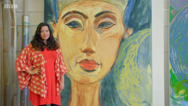 Film still: Rick Stein's BBC series Cornwall, featuring artist Lucy Stein