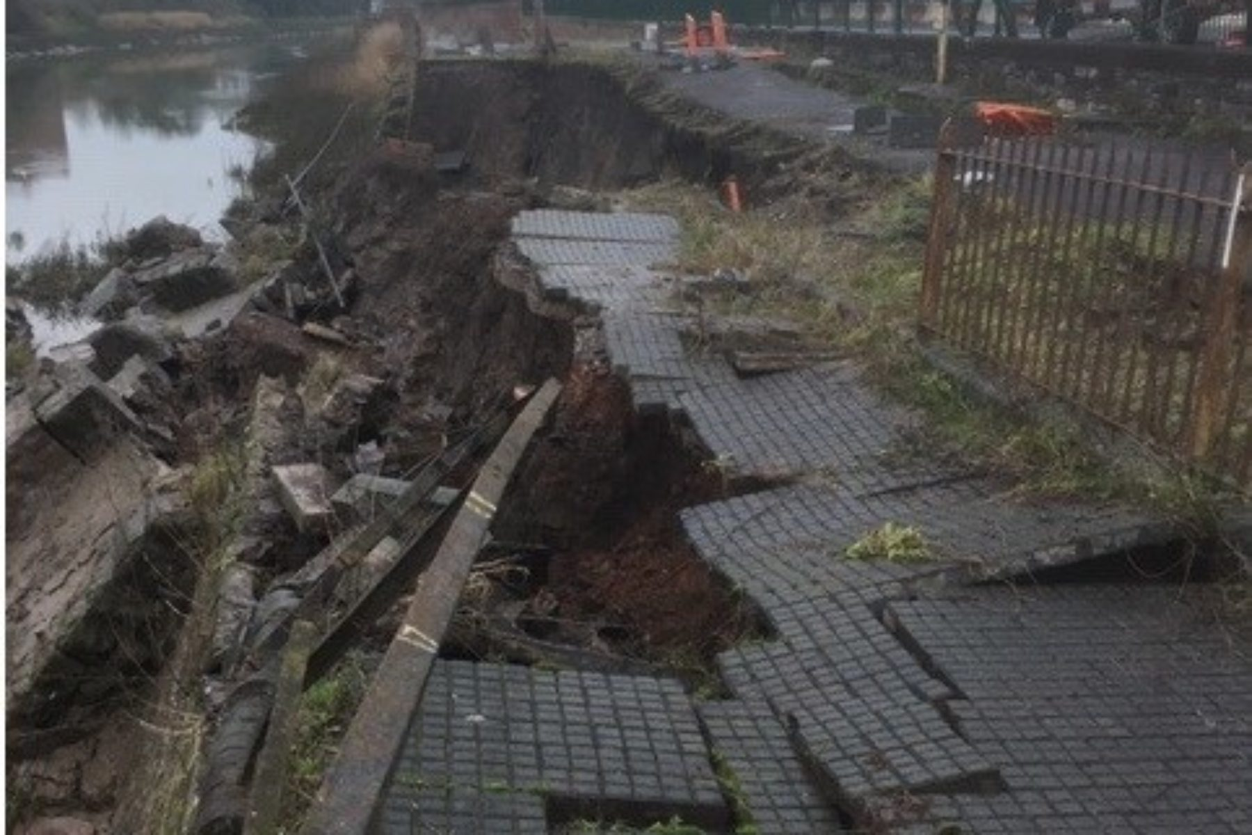Cumberland road collapse