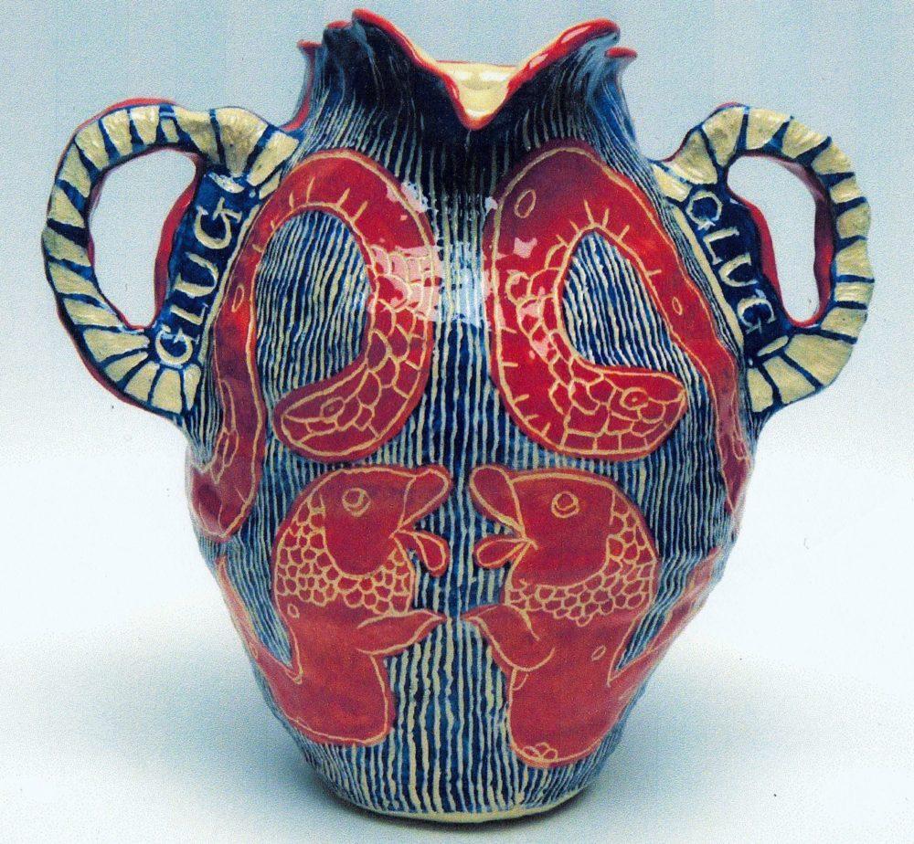 isabel mooney 2019 glug glug, glazed stoneware jug 23 x 42cm