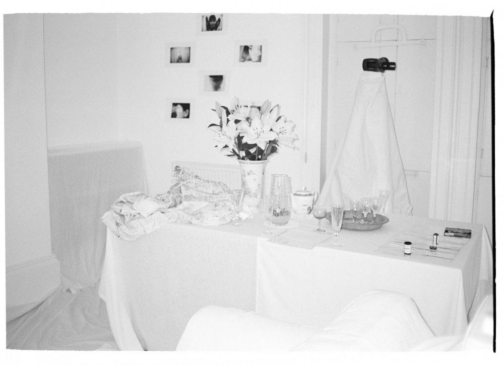 Caroline Vitzthum, Untitled (2018) site-specific installation, photographs on Japanese paper