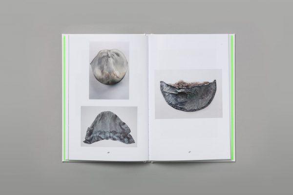 A photograph of Veronica Ryan's exhibition catalogue Along a Spectrum