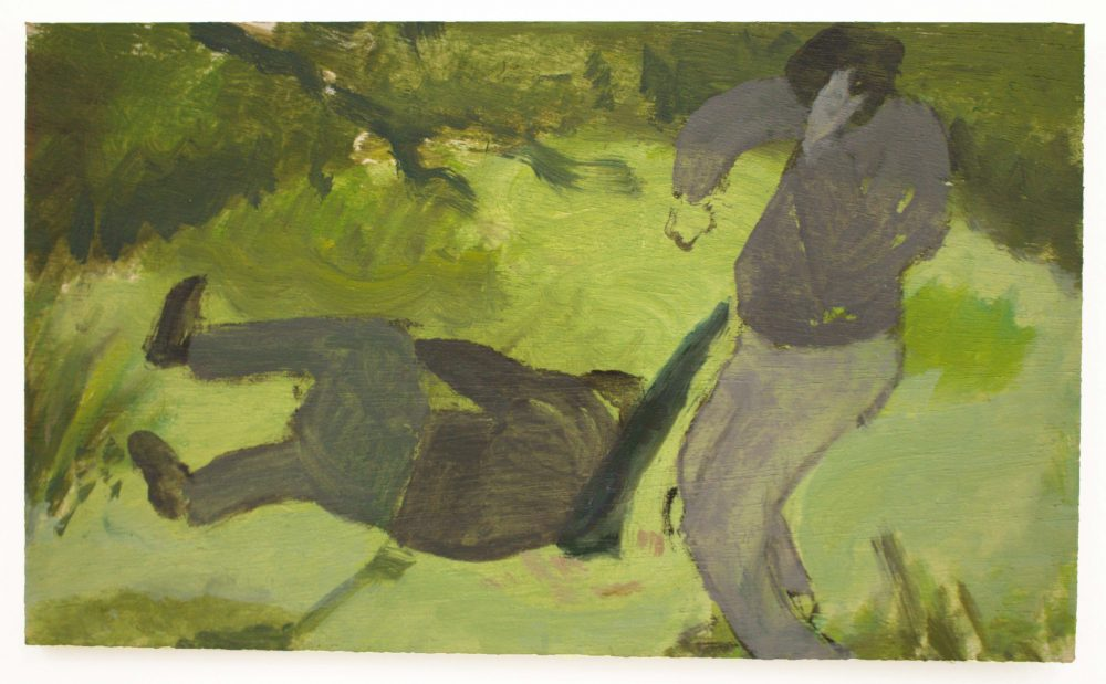 Isaac Jordan, Untitled (2021) oil on board, 13 x 20 cm