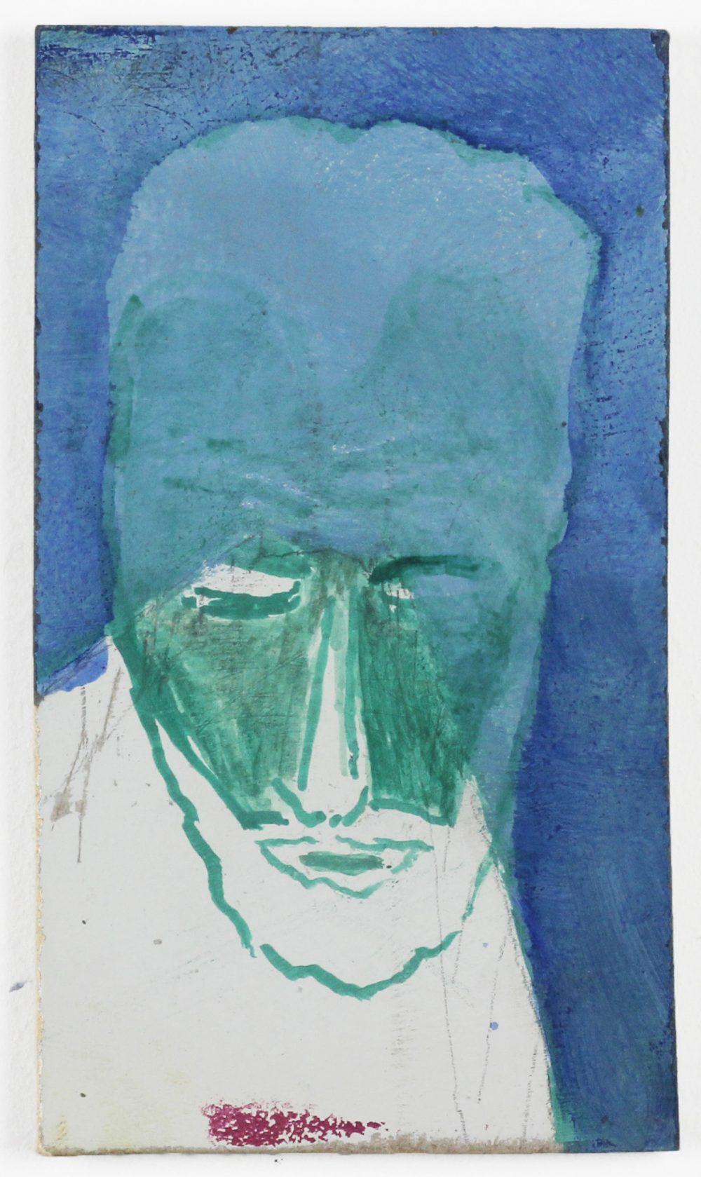 Isaac Jordan, Untitled (Dark Star) (2020) oil on board, 11.5 x 9cm