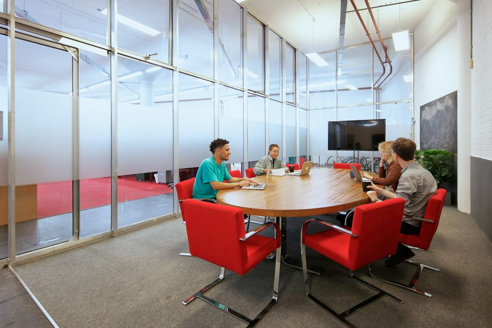 A photograph of Spike Island Workspace's large meeting room