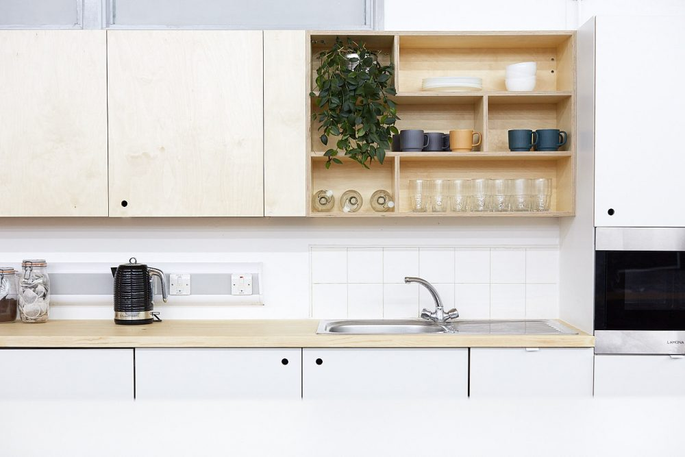 A photograph of Spike Island Workspace kitchen