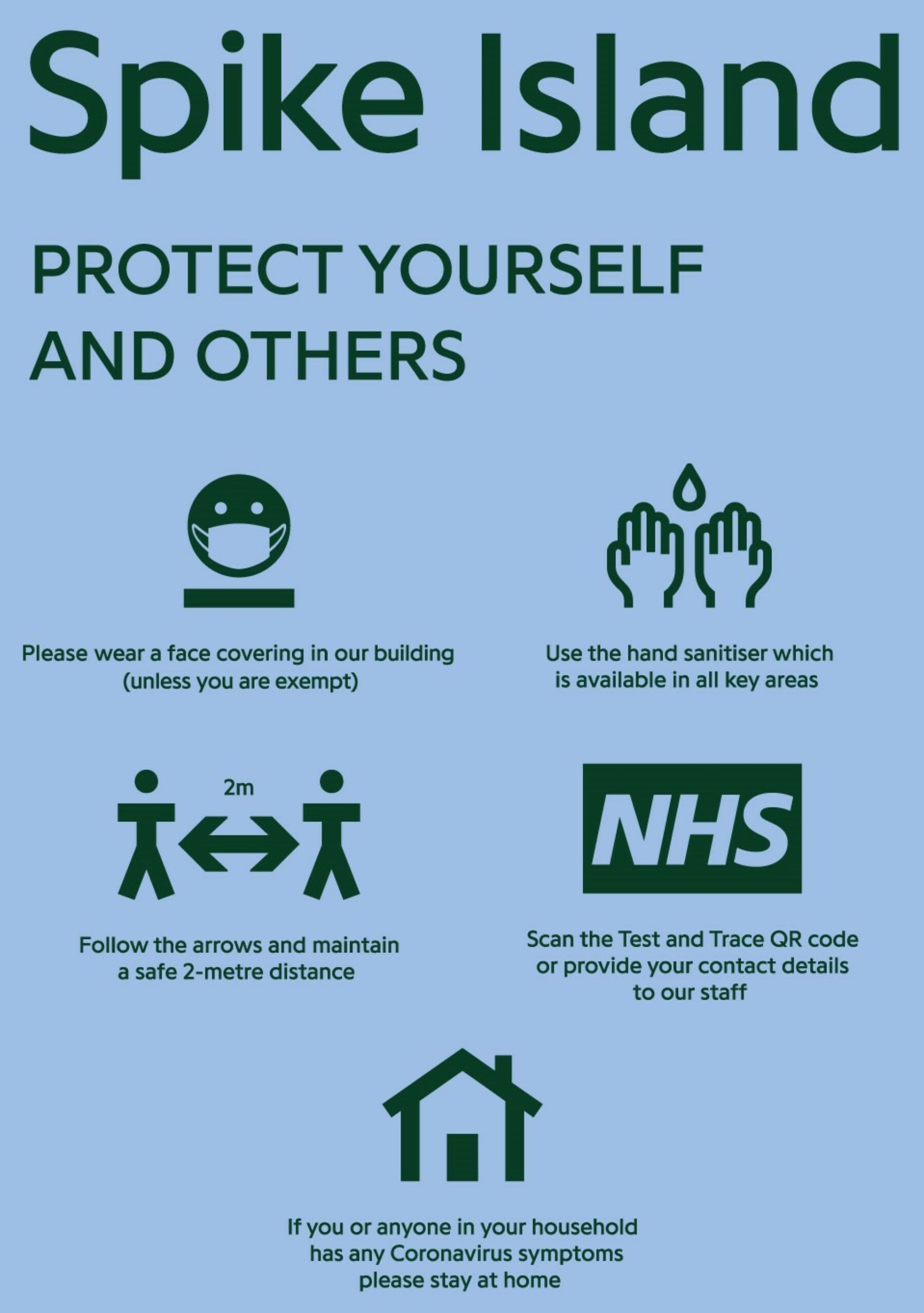 a poster which reads protect yourself and others