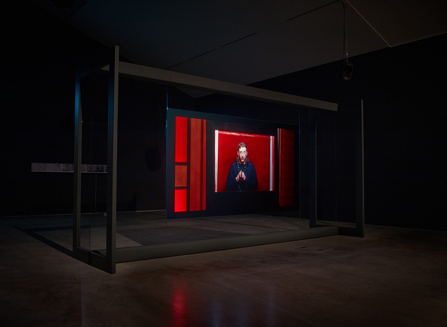 Lawrence Abu Hamdan, Walled Unwalled (2018), Single channel video installation. Exhibition view at Turner Prize, Turner Contemporary, Margate, (2019).