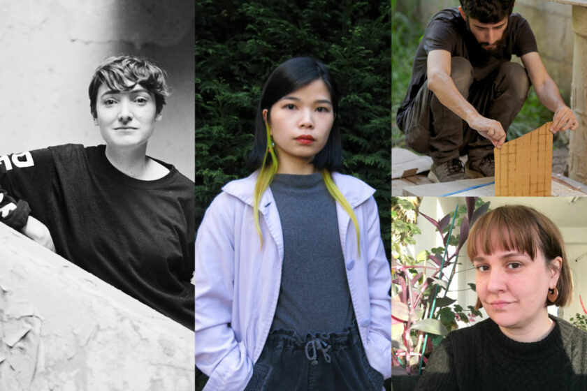 A composite image of portrait photographs of Diego Sagastume, Lucy Clout, Angela YT Chan, Phoebe Davies