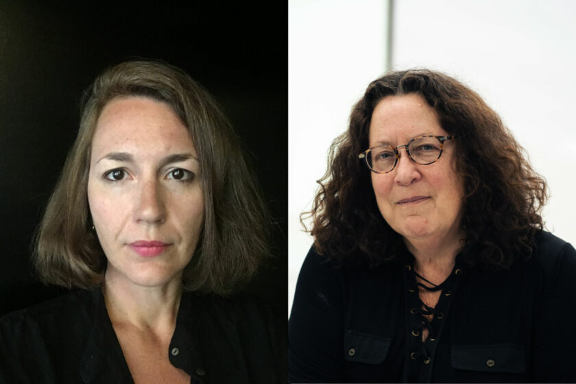 From left: Erika Balsom (2021) Photograph by Mike Gallagher; Peggy Ahwesh (2021) Photograph by Paul Samuel White