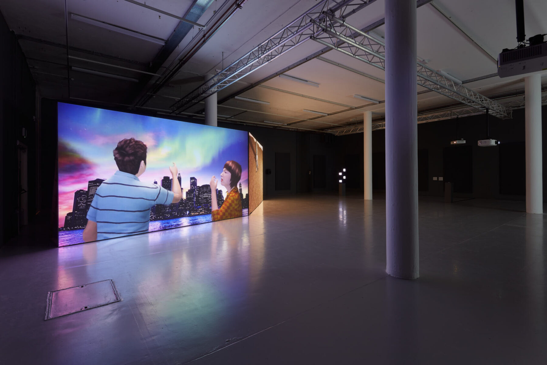 Installation view of Peggy Ahwesh exhibition Vision Machines at Spike Island
